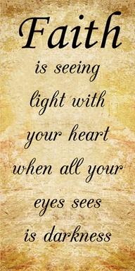 faith seeing the light