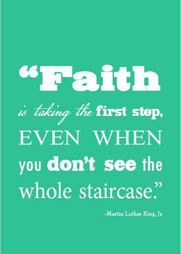 faith taken step