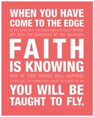 faith taught to fly