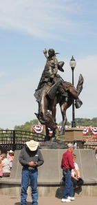 Round Up statue
