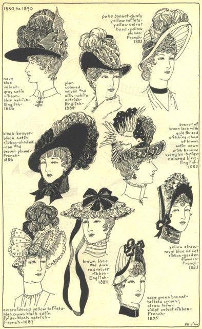 hats 3 1890s