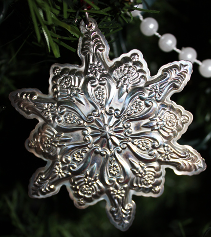 silver snowflake front
