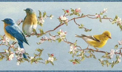 songbirds by Hautman Brothers (wallpaper border)