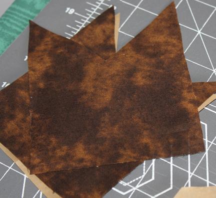 quilt block brown pieces