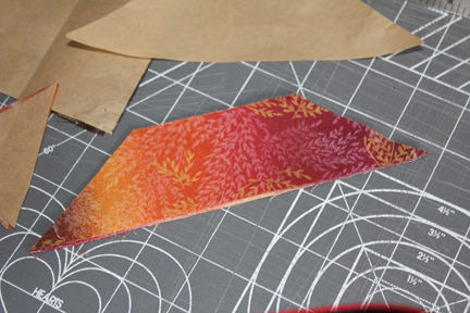 quilt block gradient piece