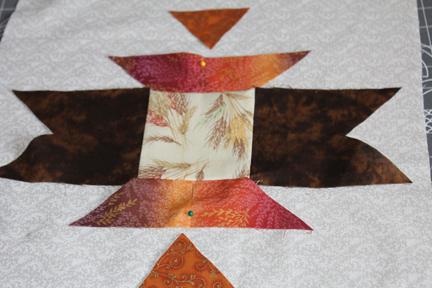 quilt block pinning final