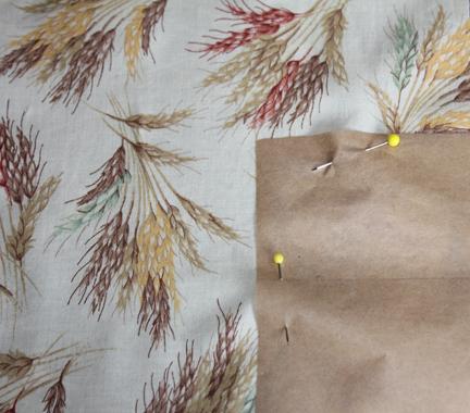 quilt block wheat fabric