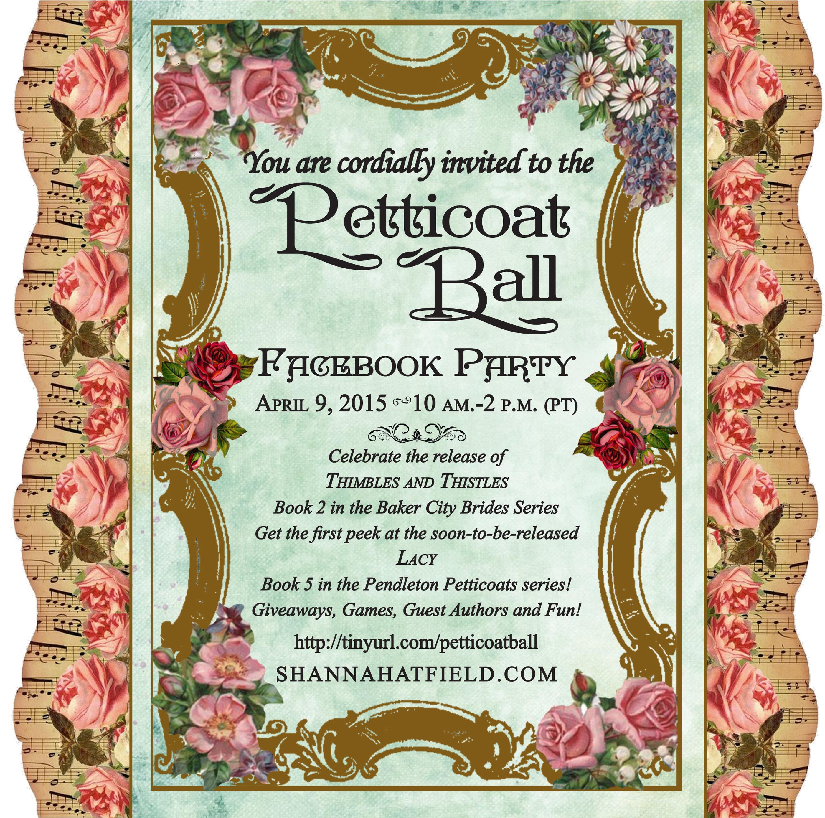 Petticoat Ball Invitation Shanna Hatfield