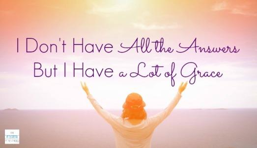 a lot of grace