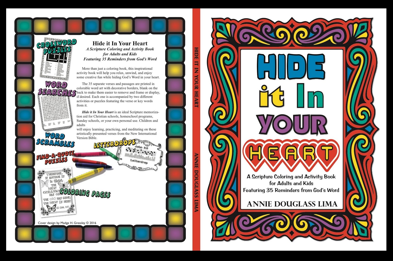 More Than Just A Coloring Book This Inspirational Activity Will Help You Relax Unwind And Enjoy Some Creative Fun While Hiding Gods Word In Your